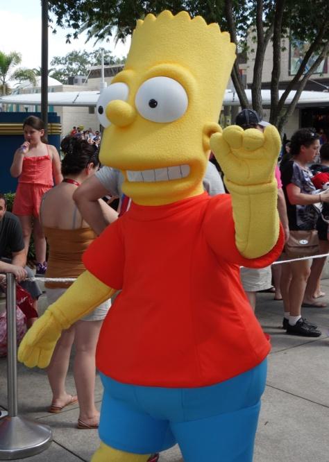Bart Simpson Universal Studios Orlando 2012