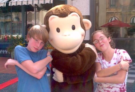 Curious George at Universal Studios 2011