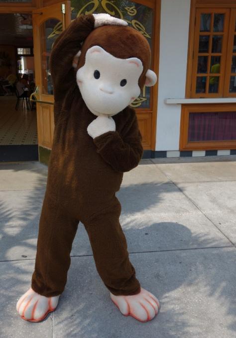 Curious George at Universal Studios 2012