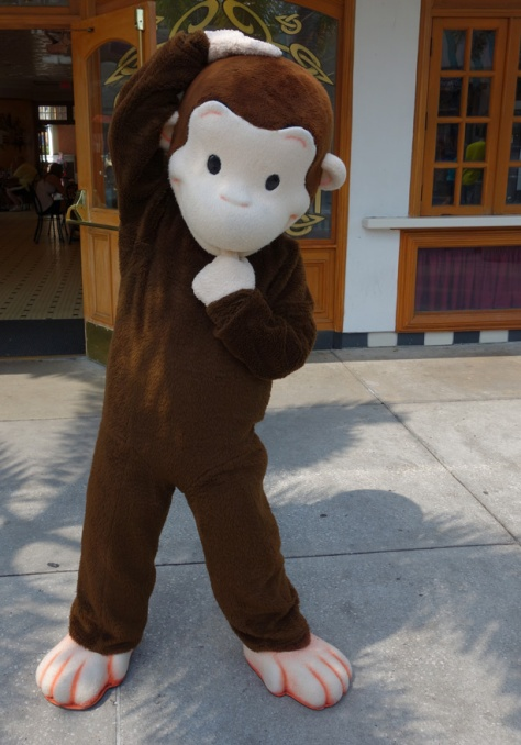 Curious George at Universal Studios 2012