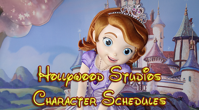Hollywood Studios Character Schedule, How to meet Disney World Hollywood Studios Characters