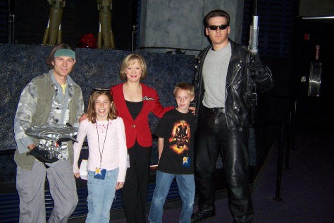 John Conner Skynet Lady and Terminator Universal Studios Hollywood 2007