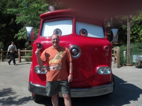 Red the Fire Engine at Cars Land in California Adventure 2012