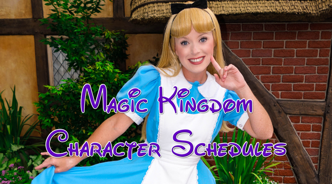 magic kingdom character schedules