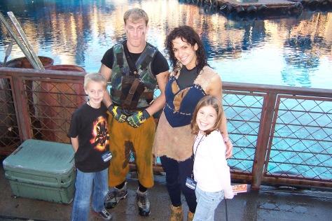 Mariner and Enola at Waterworld Universal Studios Hollywood 2007