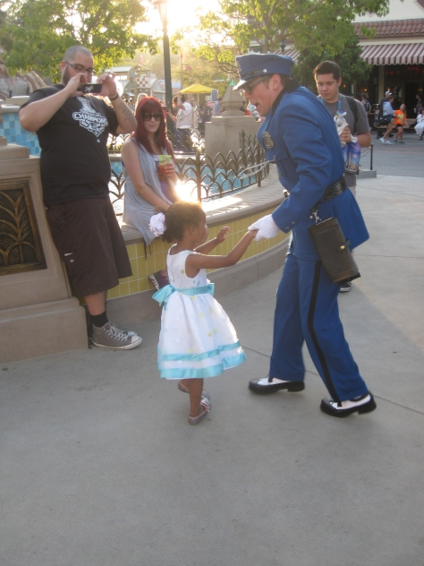 Officer Calvin Blue at California Adventure 2012