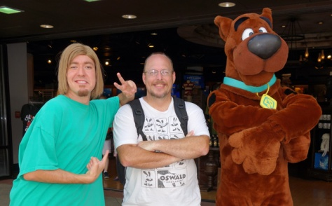Shaggy and Scooby at Universal Studios 2012