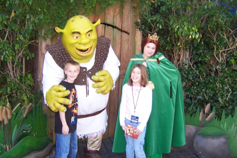 Shrek and Fiona Universal Studios Hollywood 2007