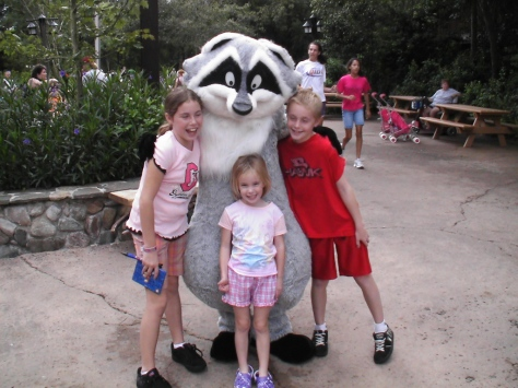 Meeko in Animal Kingdom 2008