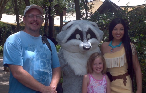 Meeko in Animal Kingdom 2012