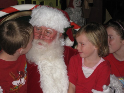 We met Santa in the Magic Kingdom December 2009