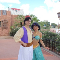 Aladdin and Jasmine at Morocco in Epcot