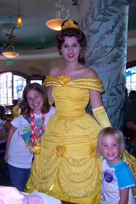Belle at Ariel's Grotto California Adventure 2007