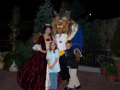 Belle and Beast at Mickey's Very Merry Christmas Party 2006