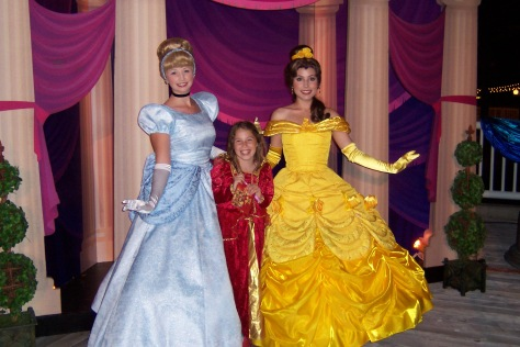 Belle and Cinderella at California Adventure 2007