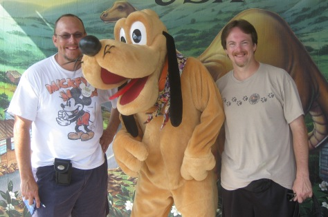 Pluto at Dinoland in Animal Kingdom 2010