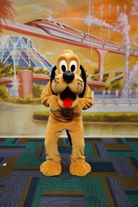 Pluto at Epcot Character Spot 2012