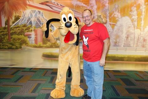 Pluto at Epcot Character Spot 2013