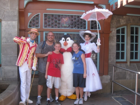 Bert and Mary Poppins in the Magic Kingdom in 2010