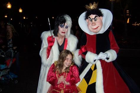 Cruella and Queen of Hearts 2007 Mickey's Halloween Party California Adventure