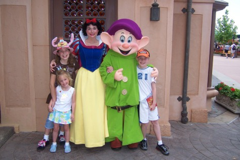Dopey from 2008.  He used to meet regularly with Snow White in Epcot's Germany Pavillion