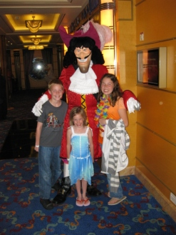 Capt Hook on Disney Cruise 2009
