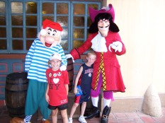Hook and Smee at Magic Kingdom 2006. (They often appear for Character Palooza)