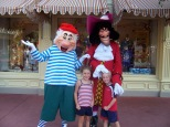 Capt Hook and Mr. Smee in Magic Kingdom 2004