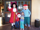 Capt Hook and Mr. Smee in Magic Kingdom 2006