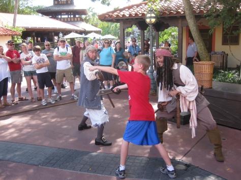 My son battling Capt Jack in 2010