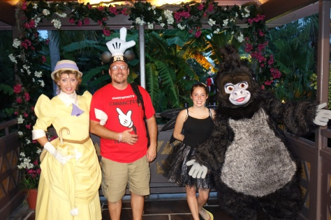 Terk with Jane at Mickey's Not So Scary Halloween Party 2012