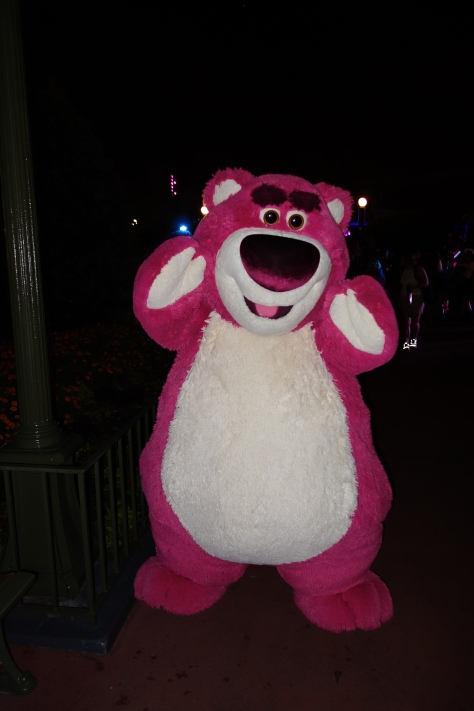 Lotso at Mickey's Not So Scary Halloween Party 2012