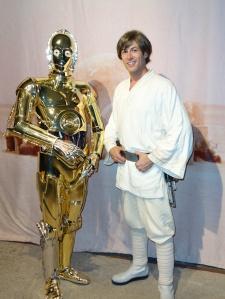 Luke Skywalker and C-3PO at Star Wars Weekends 2013