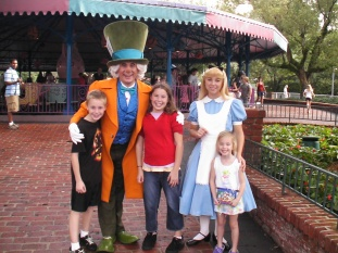 Walt Disney World, Magic Kingdom Characters, Fantasyland, Alice in Wonderland, Mad Hatter