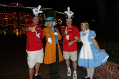 Mad Hatter and Alice at Mickey's Not So Scary Halloween Party 2012