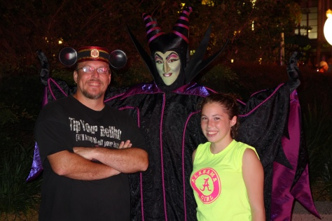 Maleficent at the Villains Bash 2012