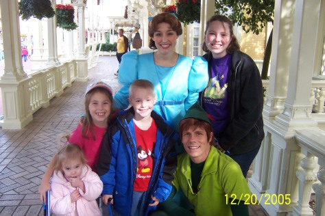 Wendy with Peter Pan in 2005