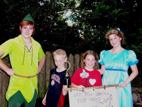 Peter Pan and Wendy after Family Magic Tour 2006