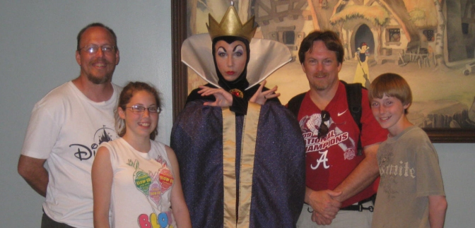 Queen Grimhilde  or the Evil Queen from Snow White 2011.  She doesn't offer regular meets, but can sometimes be found at Character Palooza.