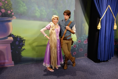 Flynn and Rapunzel at Mickey's Not So Scary Halloween Party 2012