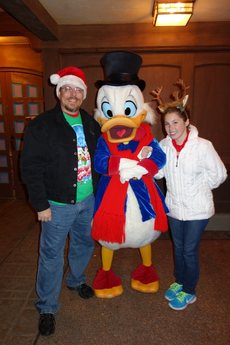 Scrooge McDuck at Mickey's Very Merry Christmas Party 2012