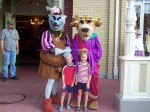 We met the Sherrif of Nottingham and Prince John way back in 2004 at the Magic Kingdom.