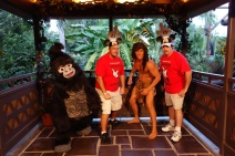 Terk with Tarzan at Mickey's Not So Scary Halloween Party 2012