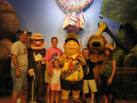 Carl, Russell and Dug at Hollywood Studios in 2009