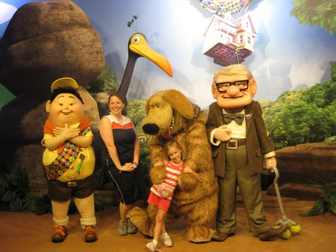 2009 - We met all the characters from UP! in one meet.  Carl has only reappeared for meets at Pixar Weekend May 2011.  Russell and Dug have returned to regular meets at Animal Kingdom.