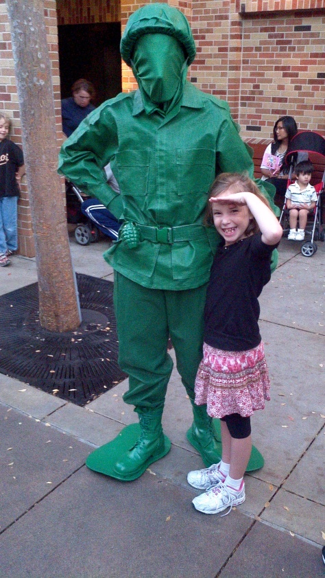 Green Army Man at Hollywood Studios 2011