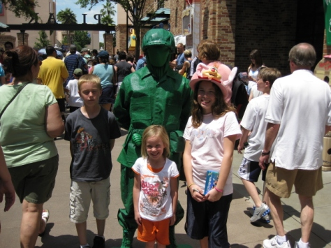 Green Army Man at Hollywood Studios 2009