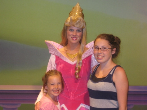 Aurora (Sleeping Beauty)  at Town Square Theater in Magic Kingdom 2011
