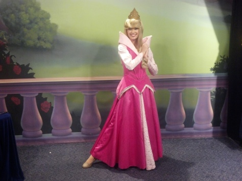 Aurora (Sleeping Beauty)  at Town Square Theater in Magic Kingdom 2012