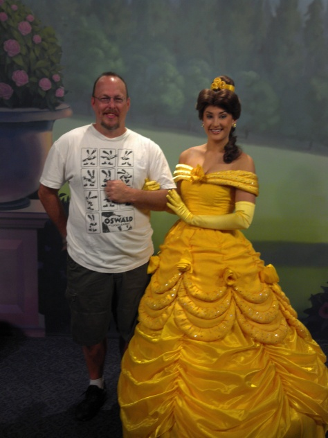 Belle at Town Square Theater in Magic Kingdom 2012